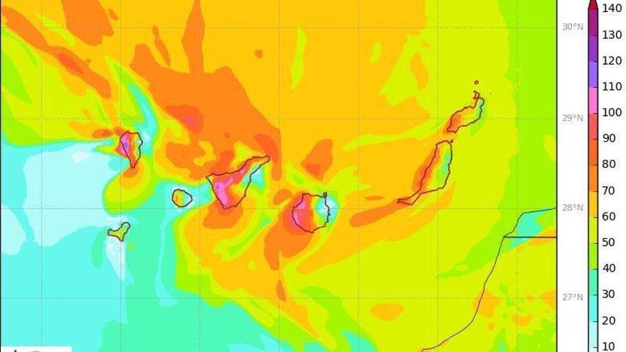 Canarias espera vientos huracanados de hasta 150 kilómetros por hora.