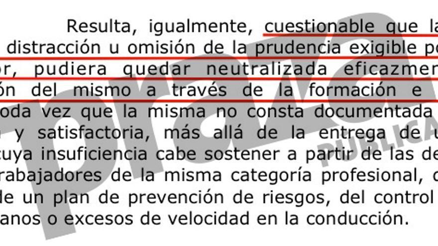 La Audiencia de Valencia dice que la empresa no puede escudarse en la formación que dio ao maquinista