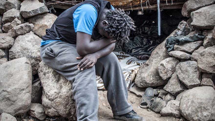 Los camerunes, el grupo más numeroso en el Gurugú, ha sido también el más afectado./ J. Blasco de Avellaneda