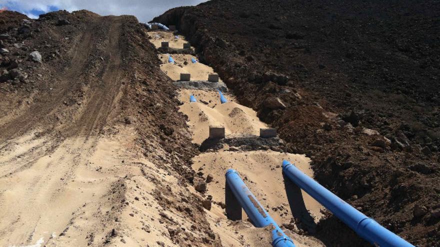 Cañerias de agua en Lanzarote.