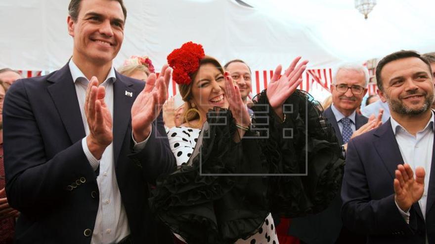Pedro Sánchez y Susana Díaz se reencuentran en la Feria de Sevilla