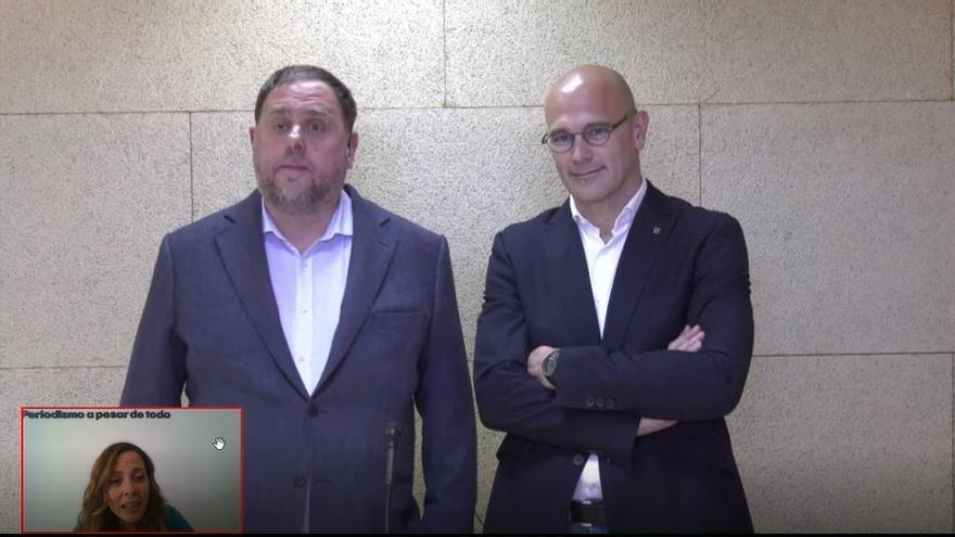 Oriol Junqueras y Raül Romeva, en la entrevista con eldiario.es.