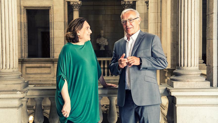 La alcaldesa de Barcelona, Ada Colau, y el alcalde de València, Joan Ribó