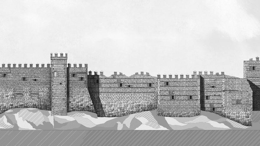 Boceto de la fortaleza que albergará los espectáculos en el parque Puy de Fou Toledo
