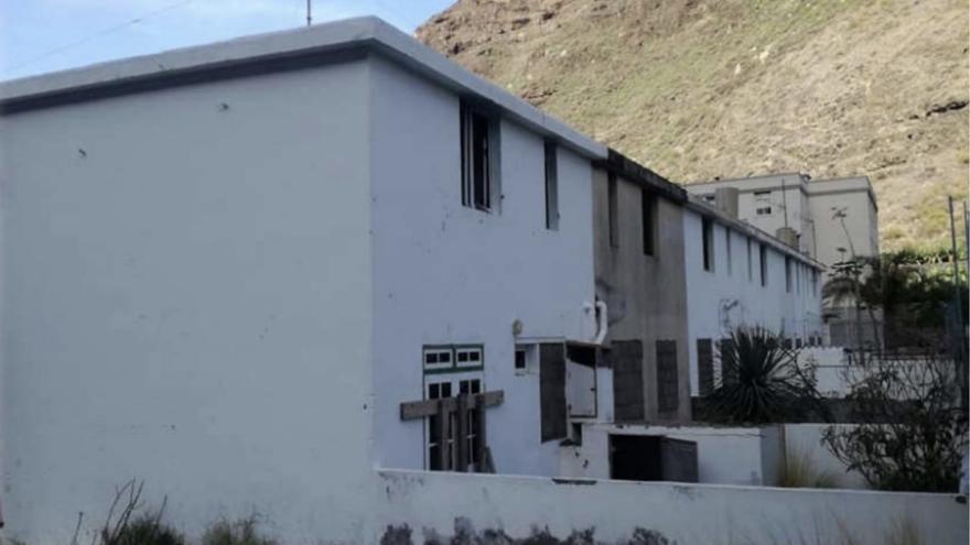 Antiguas viviendas de los maestros, en el Puerto de Tazacorte.