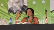 Teresa Rodríguez, durante la VI Universidad de Verano de Anticapitalistas. / Rebeca Martínez