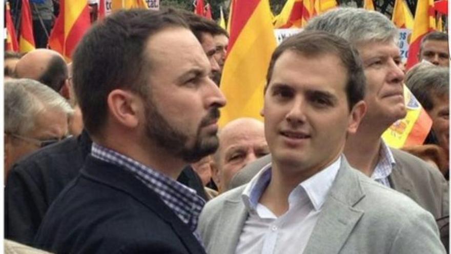 Santiago Abascal y Albert Rivera en 2012