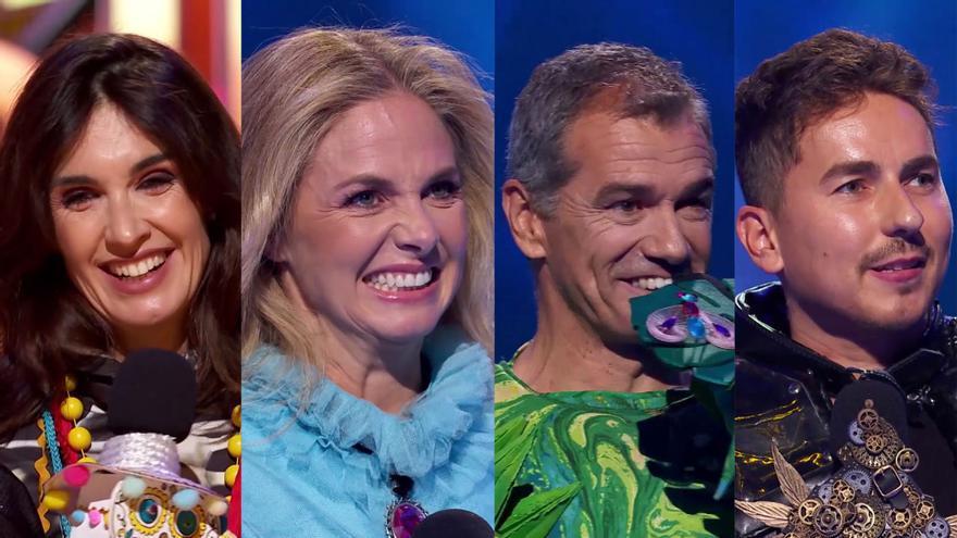 Paz Vega, Genoveva Casanova, Jorge Lorenzo y Toni Cantó en 'Mask Singer'