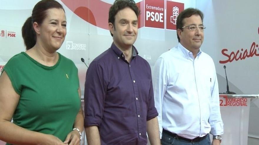 Guillermo Fernández Vara, Eva Pérez y Enrique Pérez se disputan el liderazgo del PSOE de Extremadura este domingo