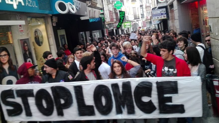 Protesta estudiantil en Mérida contra la LOMCE / JCD