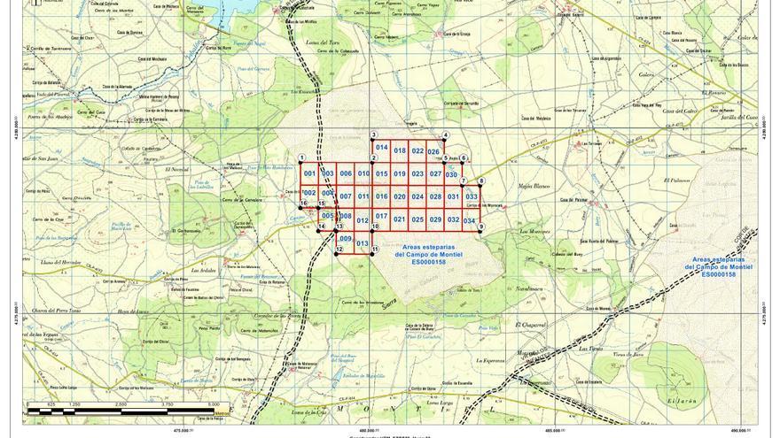 Área afecta por el proyecto tierras raras de Ciudad Real, según la Plataforma Sí a la Tierra Viva