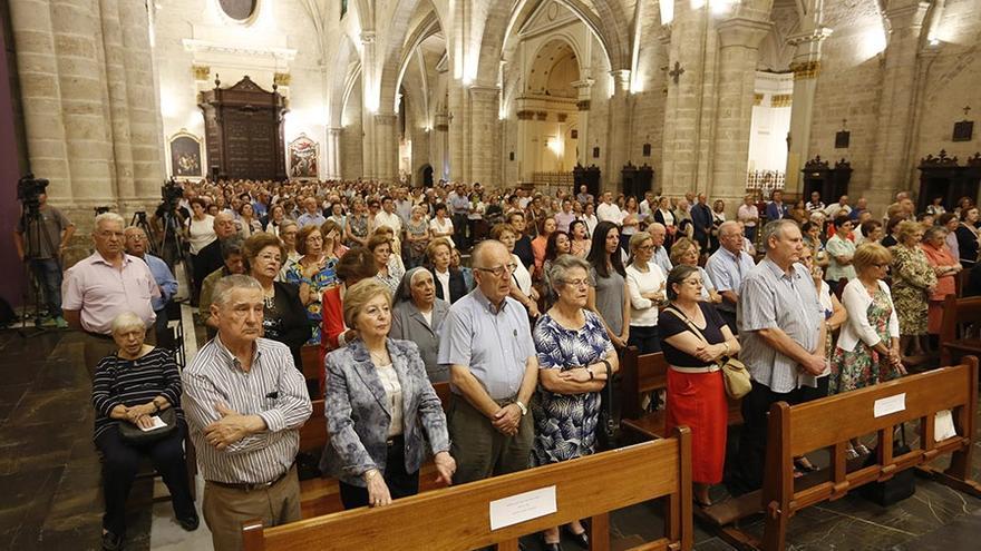 Imagen de la vigilia celebrada en la Catedral de Valencia