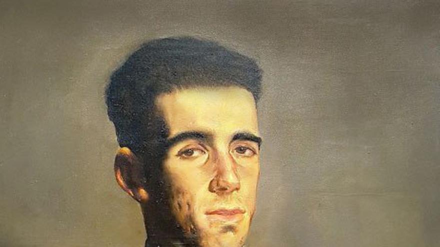 Cuadro con un retrato de Pedro de Guezala