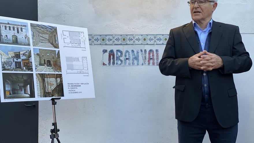 El alcalde de València, Joan Ribó, en la visita de obras