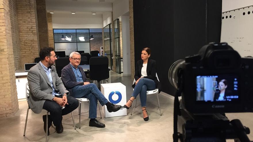 Carlos Navarro y Adolf Beltran entrevistan a la portavoz del PSPV en el Ayuntamiento de Valencia, Sandra Gómez