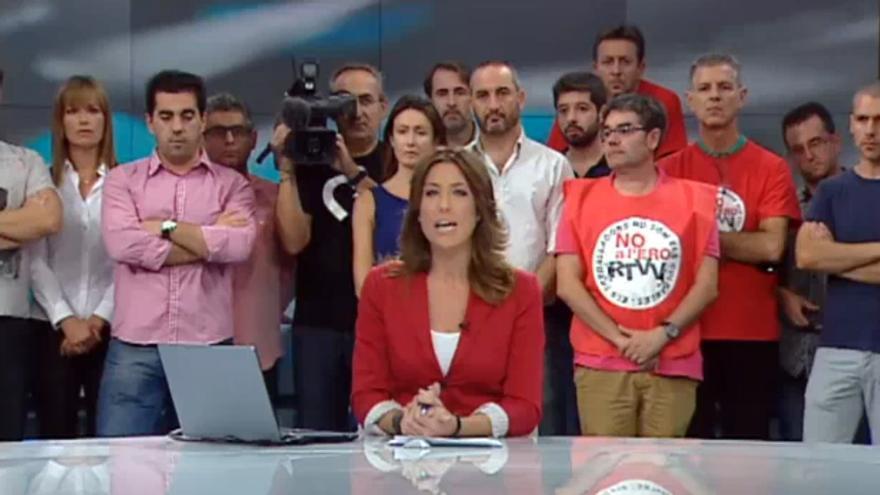 Informativo de Canal Nou en el que se informa del cierre de RTVV
