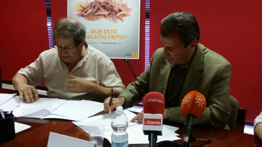 Valeriano Ruiz (CTAER) y Francisco Arteaga (TUSSAM) /foto: Daniel Andana
