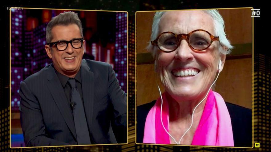Mercedes Milá, por videollamada con Andreu Buenafuente