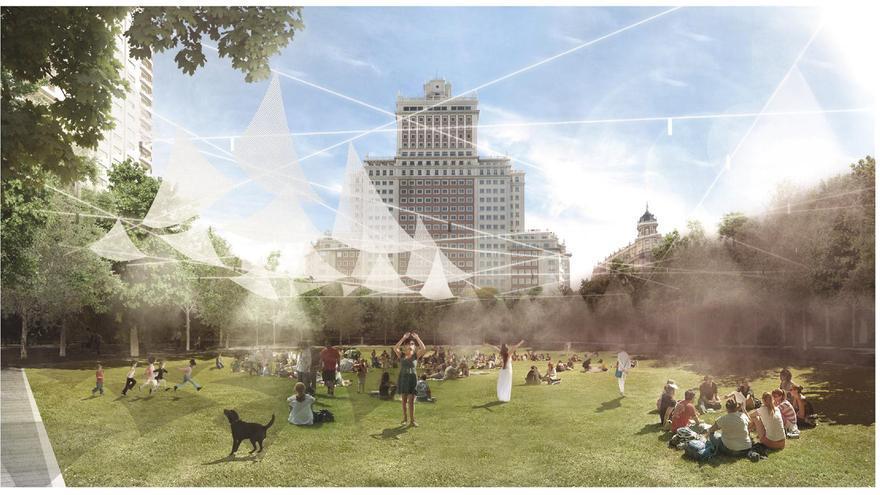 Hay 70 futuros posibles de La Plaza de España en Madrid