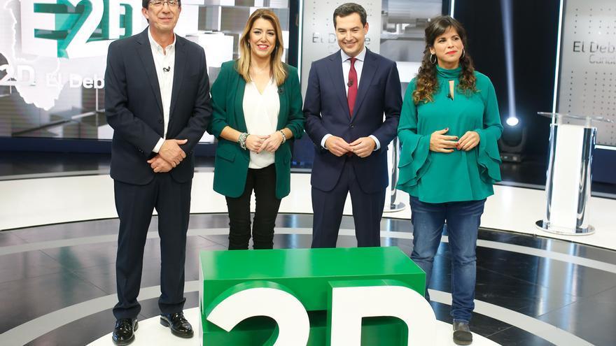 PSOE-A ganaría con 5-11 diputados menos, PP-A y Cs no sumarían mayoría y VOX puede tener 4 escaños según dos sondeos