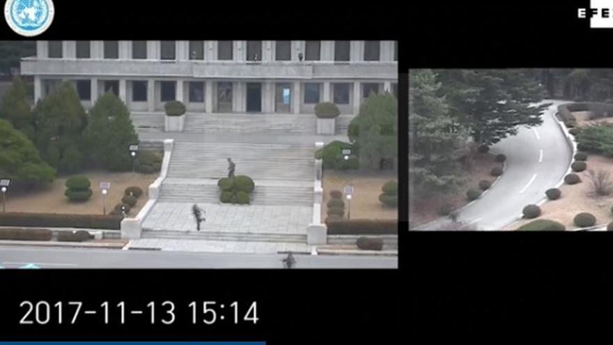 Soldado logra desertar en Corea del Norte.