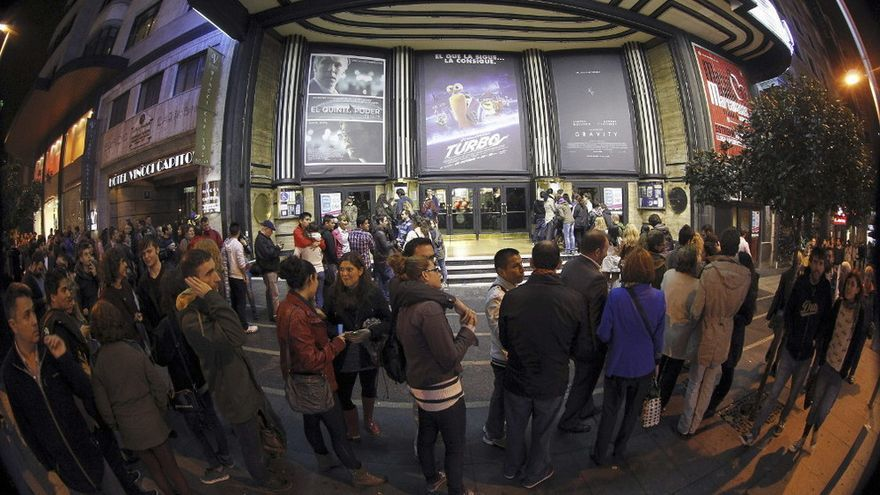 Fiesta del cine en la Gran Vía de Madrid