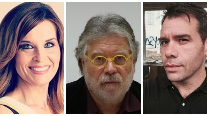 Luz Sánchez Mellado, Joaquín Estefanía y Rubén Amón, periodistas de El País y colaboradores de La Sexta.