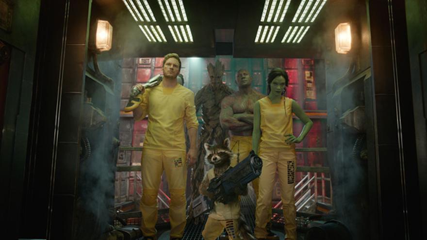 Los protagonistas de 'Los Guardianes de la Galaxia' de Marvel (Foto: captura de la película)