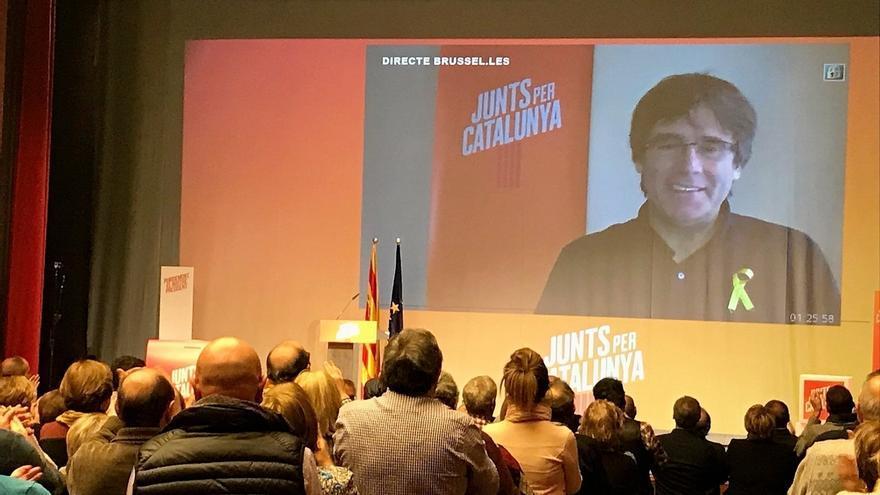 """Puigdemont dice que el 155 será """"un juego de niños"""" comparado con un Govern de PP, Cs y PSC"""