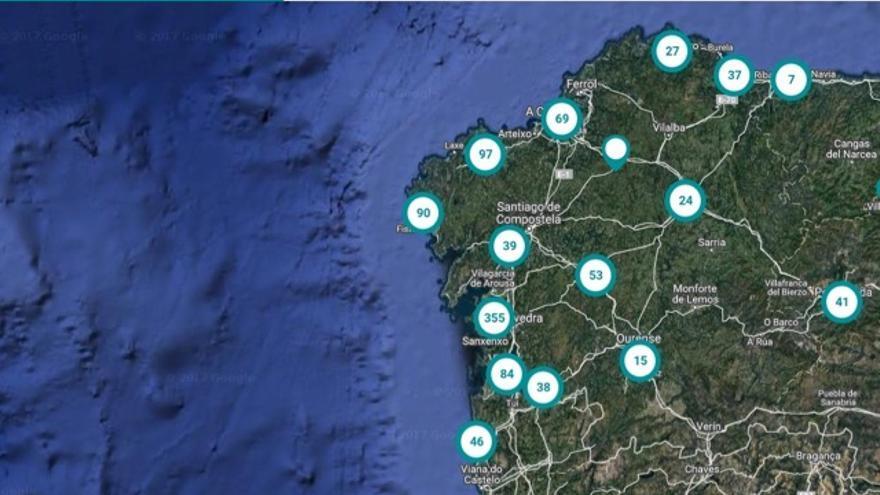 Viviendas ofertadas por el banco malo en Galicia