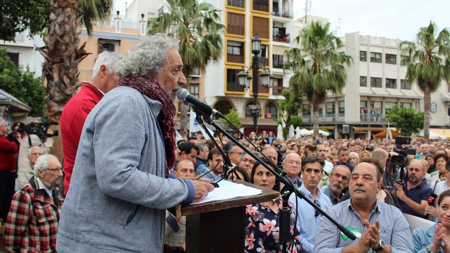 José Chamizo, en su intervención en la concentración de Algeciras.