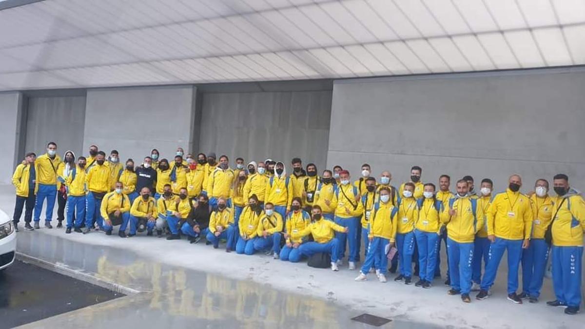 Integrantes de la selección canaria desplazados a Alicante.