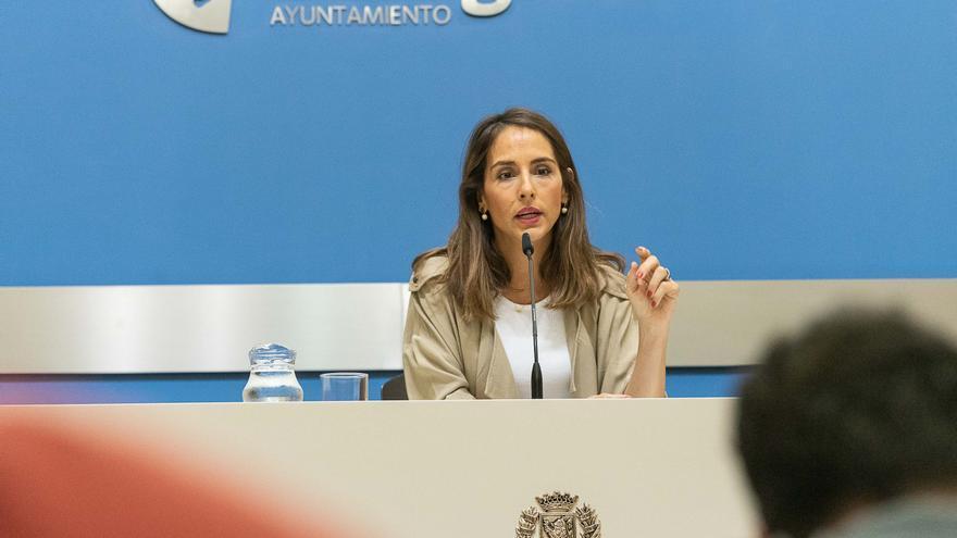 La consejera de Hacienda y portavoz del Gobierno de Zaragoza, María Navarro