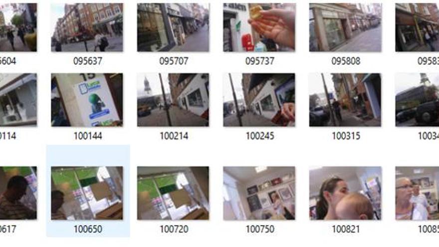 Algunas de las imágenes captadas por su cámara Narrative