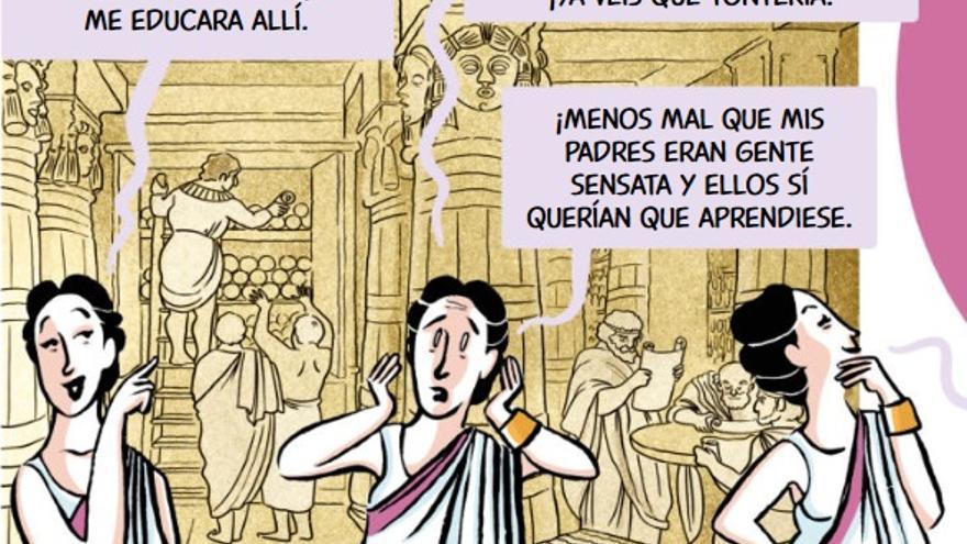Hipatia de Alejandría (imagen de Científicas. El cómic)