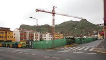 La obra del edificio de aparcamientos de la Vega de San Mateo.