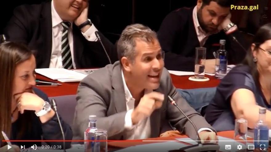 Rafael Domínguez (PP), defendiendo la propuesta