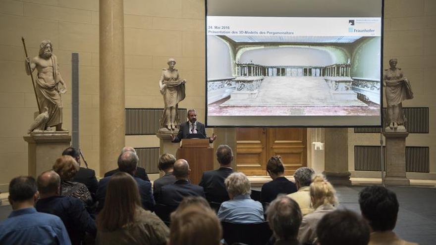 El famoso altar del museo Pérgamo de Berlín, ahora en 3D