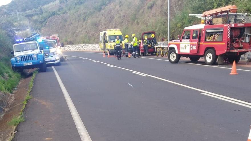 Imagen tras la colisión en Puntallana.