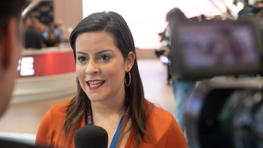 Yaiza Castilla, consejera de Turismo del Gobierno de Canarias.