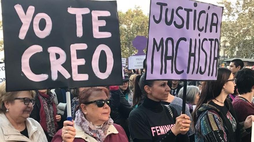 Protesta en Santander contra la sentencia del caso 'La Manada'.