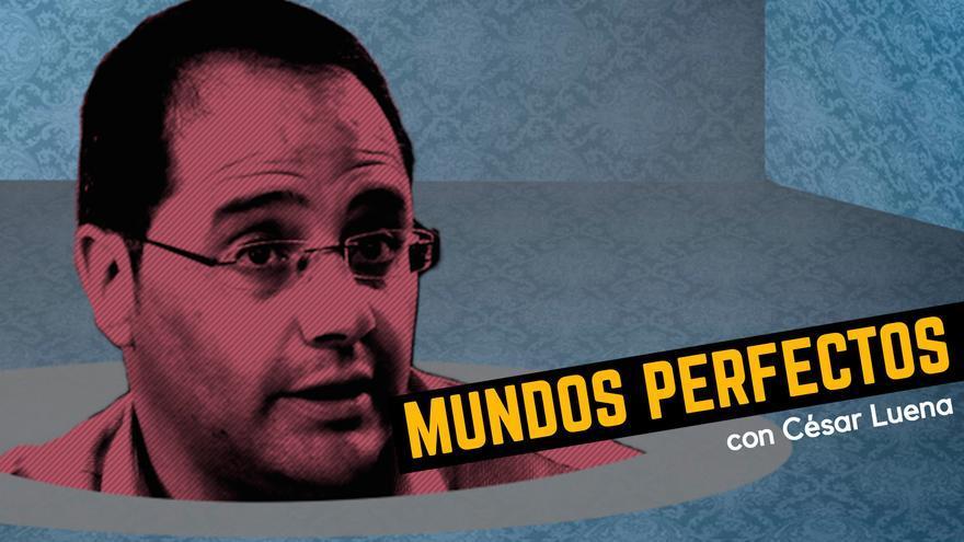 Portada de Mundos Perfectos, con César Luena