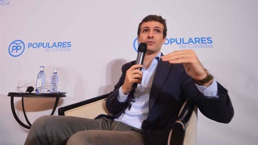 Pablo Casado confía en Cifuentes y en su combate contra la corrupción