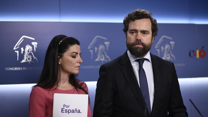Macarena Olona e Iván Espinosa de los Monteros en una comparecencia en el Congreso