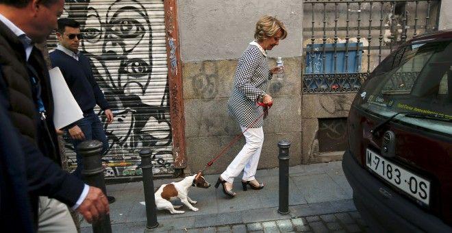 Aguirre, con Pecas por las calles de Malasaña | TWITTER