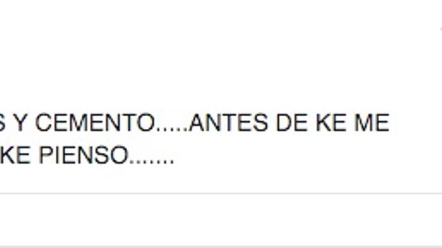 """Comentario publicado en la cuenta """"Xabi Galiza Canarias"""" el 3 de enero del presente año."""