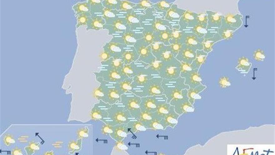 Hoy, niebla en cuenca del Ebro y centro peninsular y despejado en el resto