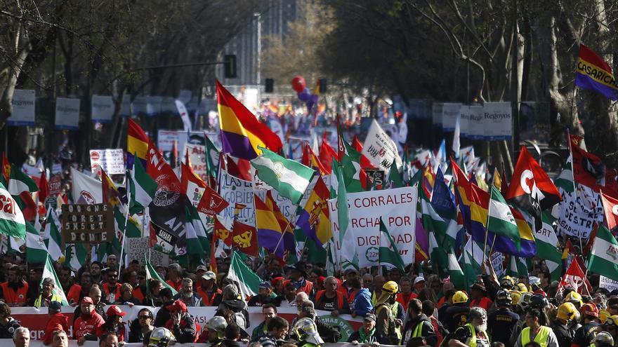 Manifestación en 2014 contra las políticas de austeridad / AP Photo/Andres Kudacki