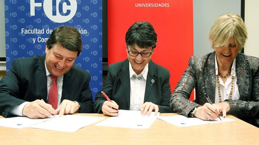 Efe y Banco Santander firman un convenio de formación con la Universidad Udelar