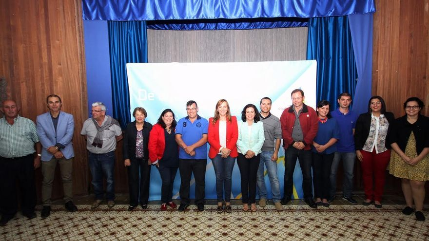 En la imagen, miembros de la lista de CC al Ayuntamiento de Villa de Mazo.